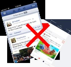 FacebookやLINEなどには一切投稿・表示されません